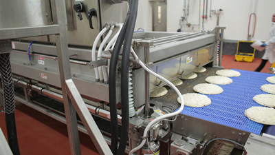 Custom designed pre cheese melter equipment